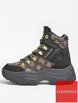 guess-bevv-logo-print-hiker-boots-black