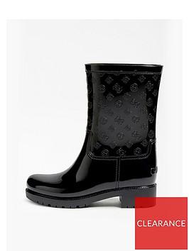 guess-ribba-peony-print-pvc-wellie-boots-black