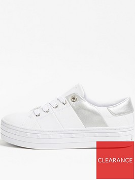guess-bustin-platform-sole-tennis-trainers-white
