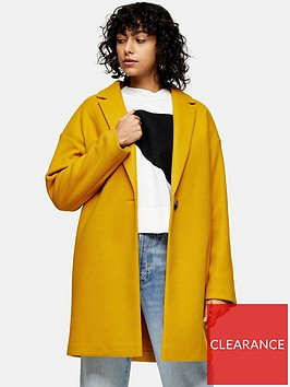 topshop-jenny-coat-yellow