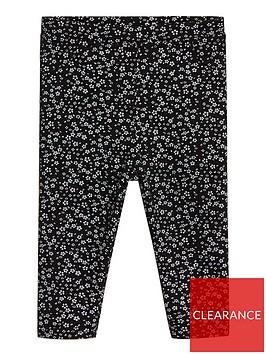 mango-baby-girls-floral-printed-leggings-black