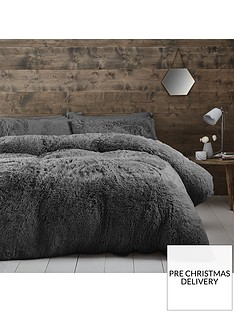catherine-lansfield-cuddly-faux-fur-double-duvet-cover-set