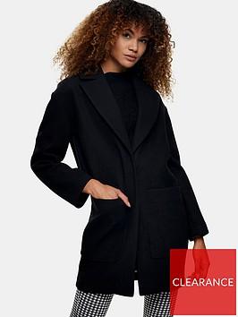 topshop-classicnbspcoat-black