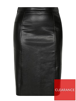 evans-faux-leather-pu-pencil-skirt-black