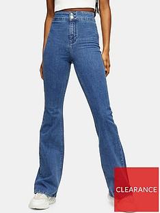 topshop-zed-flared-jeans-blue