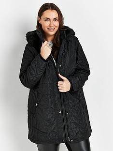 evans-light-quilted-coat-with-hood-black