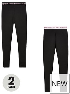 v-by-very-girls-2-pack-printed-waistband-active-leggings-black
