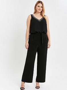 evans-soft-tie-front-wide-leg-trousers-black