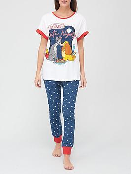 disney-lady-amp-tramp-pyjama-set-navy