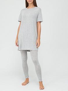 v-by-very-value-longline-t-shirt-amp-legging-lounge-pyjamasnbsp--grey