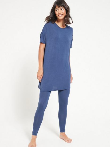 v-by-very-value-longline-t-shirt-amp-legging-lounge-pyjamasnbsp--navy