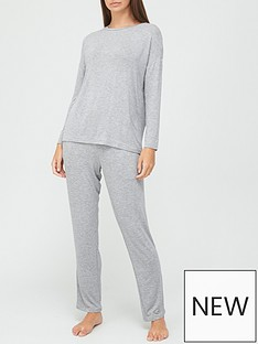 v-by-very-value-long-sleeve-t-shirt-amp-trouser-lounge-pyjamasnbsp--grey