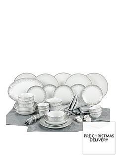 waterside-50-piece-silver-sparkle-dinner-set