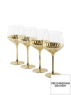 waterside-set-of-4-gold-art-deco-wine-glasses