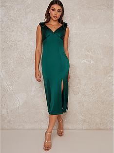 chi-chi-london-paolo-pleated-midi-dress-green