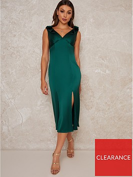 chi-chi-london-paolo-pleated-midi-dress-green