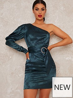 chi-chi-london-lusia-one-shoulder-bodycon-mini-dress-teal