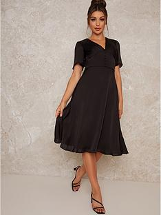 chi-chi-london-ellisha-elasticated-waist-midi-dress-black
