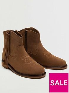 mango-girls-suede-tassel-boots-brown
