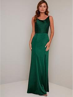 chi-chi-london-molly-mae-bodycon-maxi-dress-green