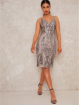 chi-chi-london-louna-embellished-midi-dress-silver