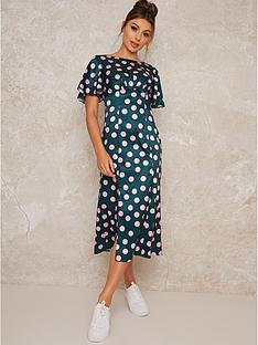 chi-chi-london-cozette-printed-midi-dress-green