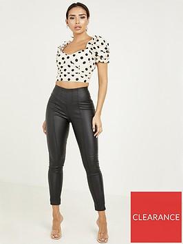 quiz-punbsphigh-waist-crystal-detail-zip-back-trousers-black