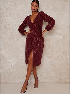 chi-chi-london-julio-sparkle-midi-dress-burgundy