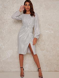 chi-chi-london-scarletta-knot-front-dress-silver