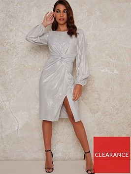 chi-chi-london-scarletta-knot-front-dress-silver