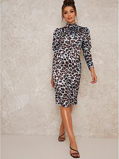 chi-chi-london-coralie-animal-print-midi-dress-blue