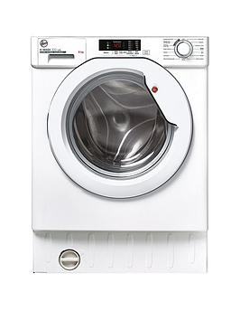 Hoover Hbws 48D1E 8Kg Load Integrated Washing Machine With 1400 Rpm Spin - White - Washing Machine Only