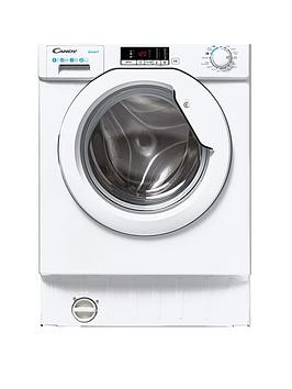Candy Cbw 48D1E 8Kg Load Integrated Washing Machine With 1400 Rpm Spin - White - Washing Machine Only