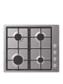 candy-candy-chg6lx-60-cm-gas-hob-stainless-steel