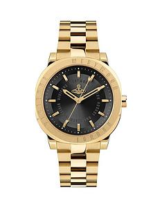 vivienne-westwood-vivienne-westwood-the-mall-black-dial-gold-stainless-steel-bracelet-ladies-watch