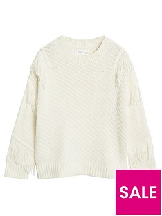 mango-girls-fringe-knitted-jumper-cream