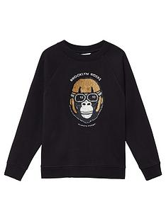 mango-boys-reversible-sequin-gorilla-sweat-black