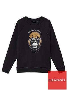 mango-boys-reversible-sequin-gorilla-sweat-black