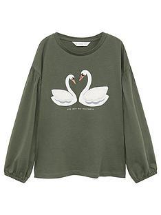 mango-girls-swan-long-sleeve-t-shirt-khaki