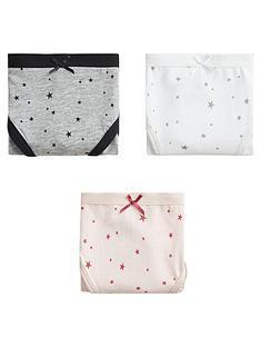 mango-girls-3-pack-star-print-knickers-white