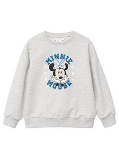mango-girls-minnie-mouse-sweat-top-grey
