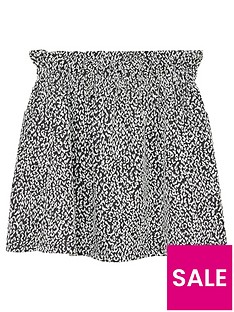 mango-girls-printed-elasticated-waist-skirt-blackwhite