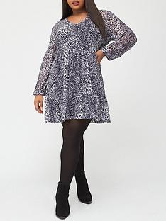 v-by-very-curve-flippy-hem-dress-grey-leopard