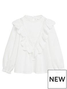 mango-girls-frill-detail-long-sleeve-blouse-white