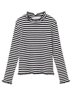 mango-girls-striped-roll-neck-long-sleeve-t-shirt-blackwhite