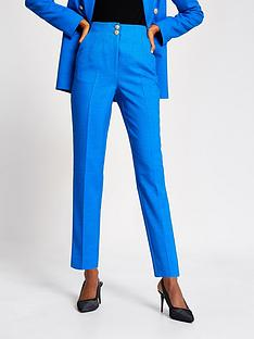 river-island-high-waist-cigarette-trouser-blue