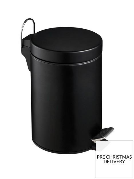 premier-housewares-black-3-litre-pedal-bin