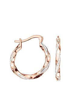 evoke-rose-gold-plated-sterling-silver-clear-swarovski-crystals-twisted-hoop-creole-earrings