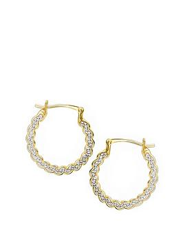 evoke-gold-plated-sterling-silver-clear-swarovski-crystals-swirl-hoop-earrings