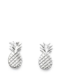 the-love-silver-collection-sterling-silver-pineapple-stud-earrings